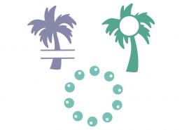 Palm monogram frames
