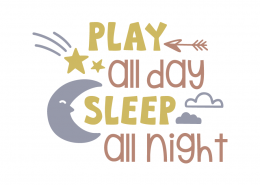 Play all day sleep all night