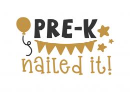 Pre-k nailed it!