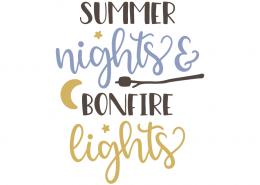 Summer nights and bonfire lights