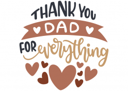 Thank you dad for everything