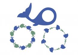 Whale monogram frames