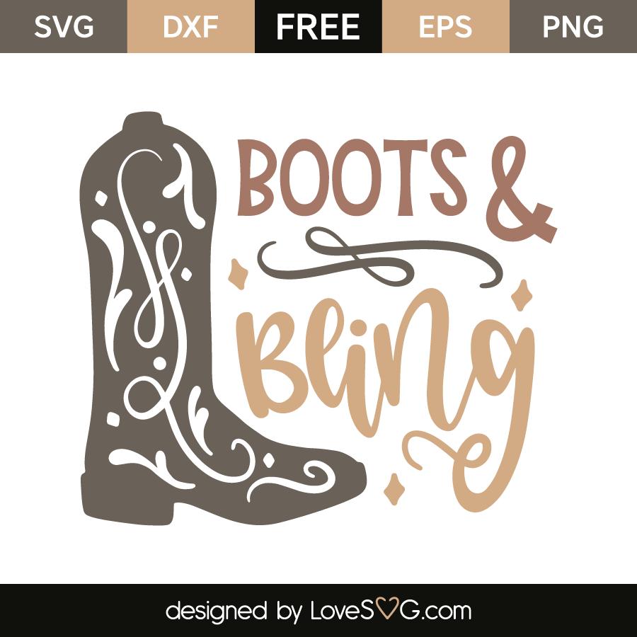 5728f2d0a410b Boots & bling | Lovesvg.com