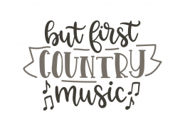 But first country music