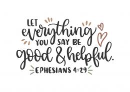 Ephisians 4:29