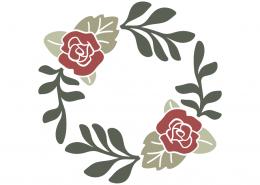 Flowers monogram frame