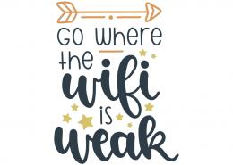 Go where the wifi is weak