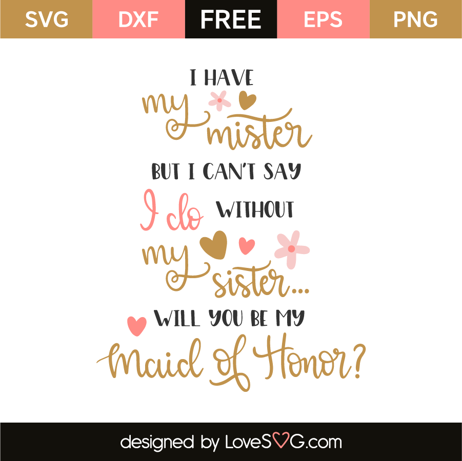 graphic about I Can't Say I Do Without You Free Printable titled I incorporate my mister