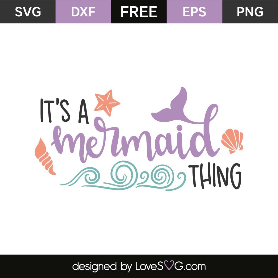 It's a mermaid thing