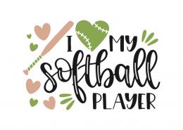 I love my softball player