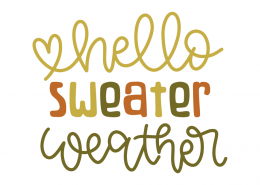 Hello sweater weather