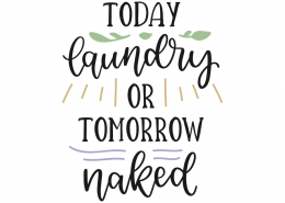 Today laundry or tomorrow naked