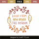 Keep calm and enjoy fall season