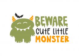 Beware cute little monster