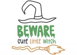 Beware cute little witch 7702