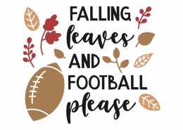 Falling leaves and football please