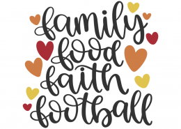 Family food faith football