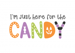 I'm just here for the candy