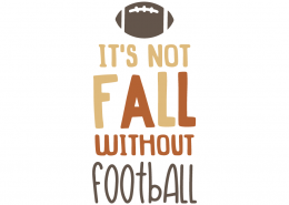 It's not fall without football
