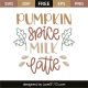 Pumpkin spice milk latte