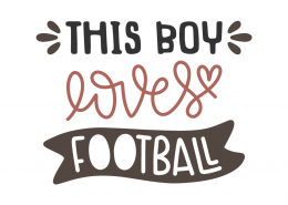This boy loves football