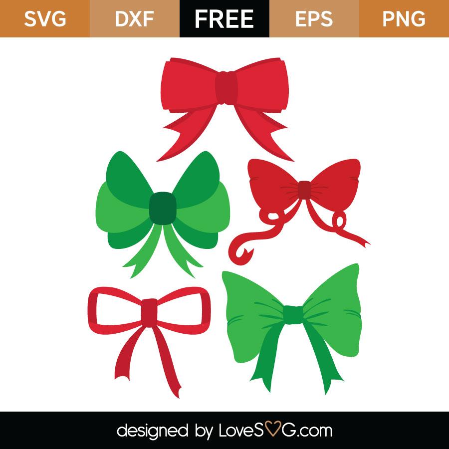 Christmas Bow Svg.Christmas Ribbon Svg Cut File Lovesvg Com