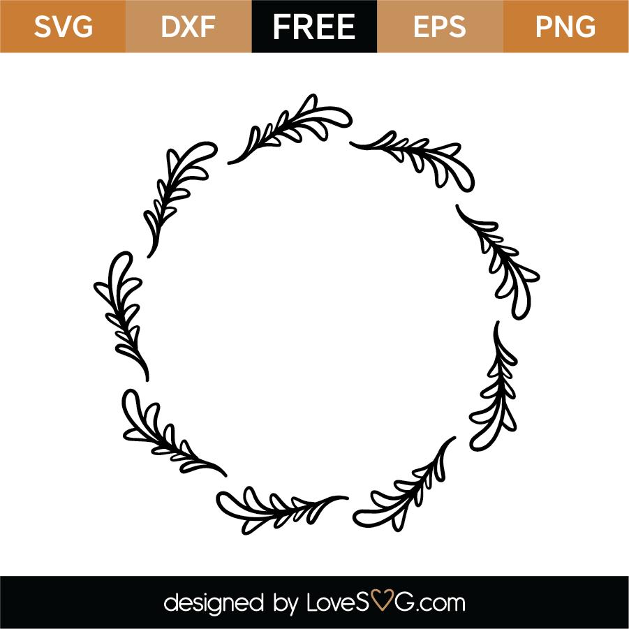 Download Free Monogram Frame SVG Cut File | Lovesvg.com