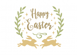 Free Happy Easter Bunnies SVG Cut File