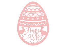 Happy Easter Egg SVG Cut File