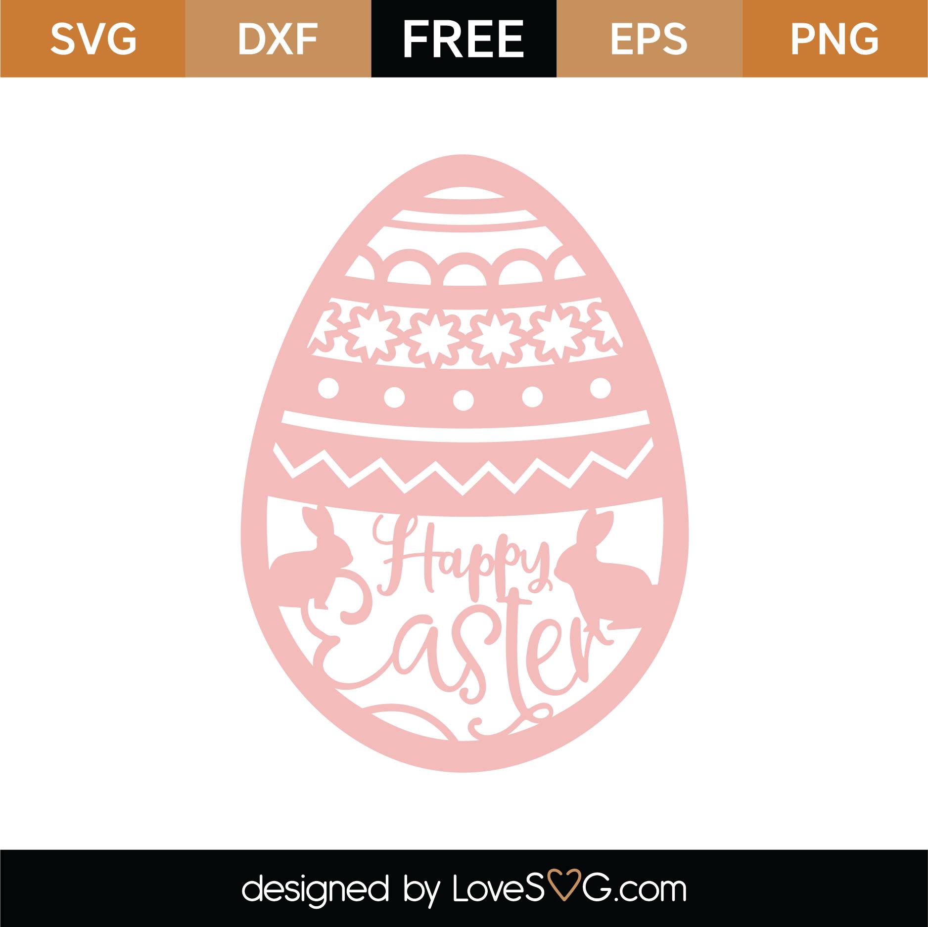 Download Free Happy Easter Egg SVG Cut File | Lovesvg.com