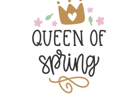 Queen Of Spring SVG Cut File