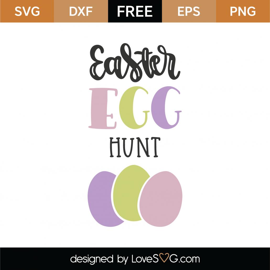 Easter Egg Hunt SVG Cut File 8671