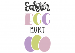 Easter Egg Hunt SVG Cut File 8671