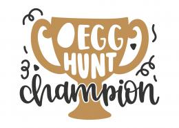Egg Hunt Champion SVG Cut File 8623