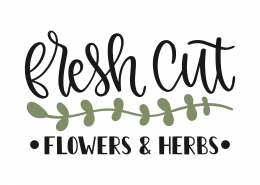 Fresh Cut Flowers SVG Cut File 8666
