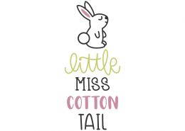 Little Miss Cotton Tail SVG Cut File 8640