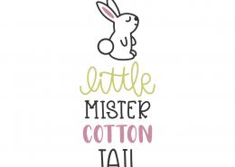 Little Mister Cotton Tail SVG Cut File 8624