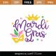 Free Mardi Gras SVG Cut File