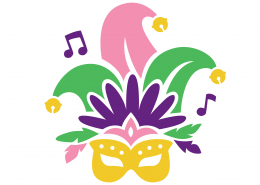 Free Mardi Gras Mask SVG Cut File