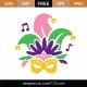Free Mardi Gras Mask SVG Cut File