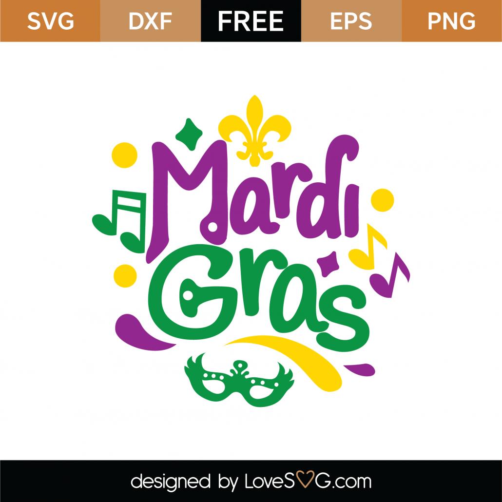 Mardi Gras SVG Cut File 8625