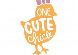 One Cute Chick SVG Cut File 8638