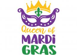 Queen of Mardi Gras SVG Cut File