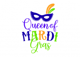 Queen of Mardi Gras SVG Cut File