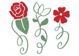 Roses SVG Cut File 8681