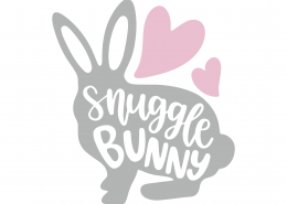 Snuggle Bunny SVG Cut File 8628
