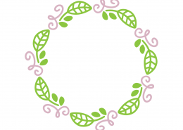 Spring Monogram Frame SVG Cut File 8674