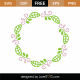 Spring Monogram Frame SVG Cut File 8674