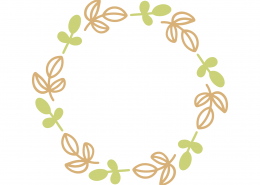 Spring Monogram Frame SVG Cut File 8677