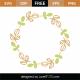 Spring Monogram Frame SVG Cut File 8677